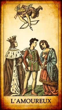 Carte du Tarot L'Amoureux