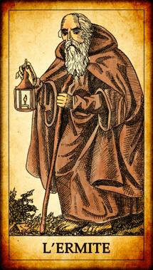 Carte du Tarot L'Ermite