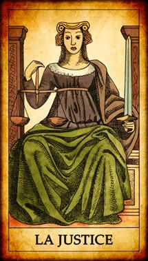Carte du Tarot La Justice