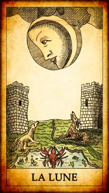 Carte du Tarot La Lune