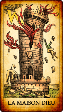 Carte du Tarot La Maison Dieu