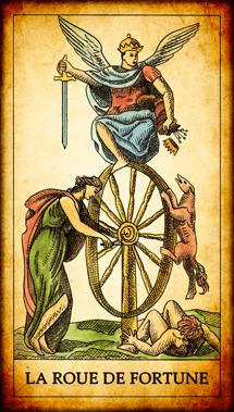 Carte du Tarot La Roue de Fortune