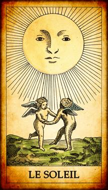 Carte du Tarot Le Soleil